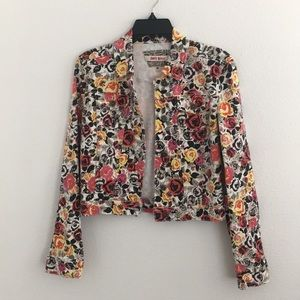 Hot Kiss Floral Jean Jacket Size M